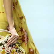 Yellow, Textile, Bag, Pattern, Fashion, Shoulder bag, Maroon, Luggage and bags, Motif, Day dress,