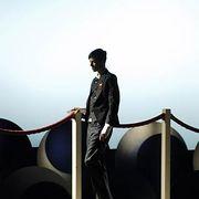 Standing, Jacket, Denim, Street fashion, Leather, Pocket, Fictional character, Handrail,