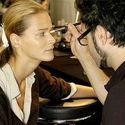 Hair, Head, Ear, Hairstyle, Watch, Wrist, Beauty salon, Eyelash, Fashion, Makeup artist,