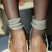 Joint, Style, Fashion, Beige, Close-up, Foot, Fashion design, Silver, Nail, Ankle,