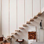 Wall, Floor, Flooring, Hardwood, Wood flooring, Armrest, Laminate flooring, Plywood, Shadow, Stairs,