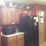 Wood, Room, Cupboard, Property, Furniture, Hardwood, Major appliance, Wood stain, Home appliance, Cabinetry,