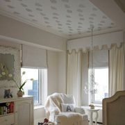 A Subtle Wallpapered Ceiling