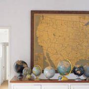 Maps as Inexpensive Wall Art