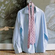 Blue, Product, Collar, Sleeve, Textile, White, Dress shirt, Clothes hanger, Pattern, Fashion,