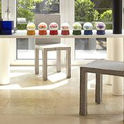Property, Floor, Table, Flooring, Interior design, Rectangle, Design, Sofa tables, Outdoor structure, Artifact,