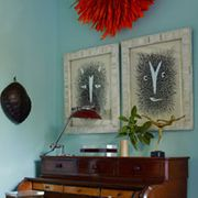 Room, Property, Interior design, Wall, Musical instrument, Paint, House, Interior design, Picture frame, Keyboard,
