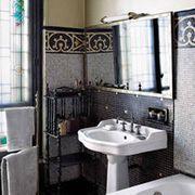 Plumbing fixture, Architecture, Room, Bathroom sink, Interior design, Tap, Property, Wall, Glass, Tile,