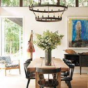 Wood, Room, Property, Interior design, Table, Floor, Furniture, Hardwood, Leaf, Flooring,