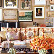 Room, Interior design, Yellow, Wall, Furniture, Couch, Interior design, Living room, Picture frame, Orange,