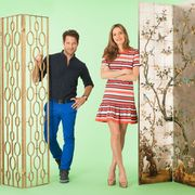 Shirt, Textile, Pattern, Jeans, Style, Dress, Interaction, Waist, Street fashion, Denim,