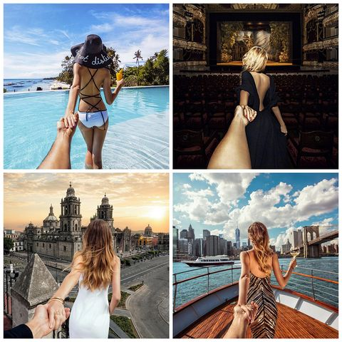"""<p><a href=""""https://www.instagram.com/muradosmann/"""" target=""""_blank"""">Murad Osmann</a> se ha hecho mundialmente famoso por su serie de fotos 'Follow Me', en las que se ve a su actual esposa Nataly llevándole de la mano por diferentes partes del planeta. El ruso empezó en 2011 durante un viaje a Barcelona y en este tiempo su popularidad ha crecido hasta llegar a casi 4 millones de seguidores en Instagram y a desarrollar una tienda online de fundas para móviles inspiradas en sus ya famosas fotos.</p>"""
