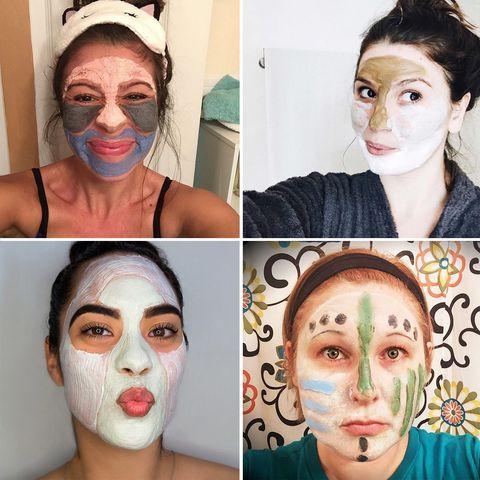 """<p>Las redes sociales han hecho que esta nueva técnica se propague rápidamente entre las 'beauty victims'. Nadie se resiste a hacerse un 'selfie' en pleno proceso de 'multimasking'. (Fotos: <a href=""""https://instagram.com/alphahskincare/"""" target=""""_blank"""">@alphahskincare</a>, <a href=""""https://instagram.com/todayis_de/"""" target=""""_blank"""">@todayis_de</a>, <a href=""""https://instagram.com/iposh.us/"""" target=""""_blank"""">@iposh.us</a>, <a href=""""https://instagram.com/perfectlyposhwithlizpagan/"""" target=""""_blank"""">@perfectlyposhwithlizpagan</a>).</p>"""