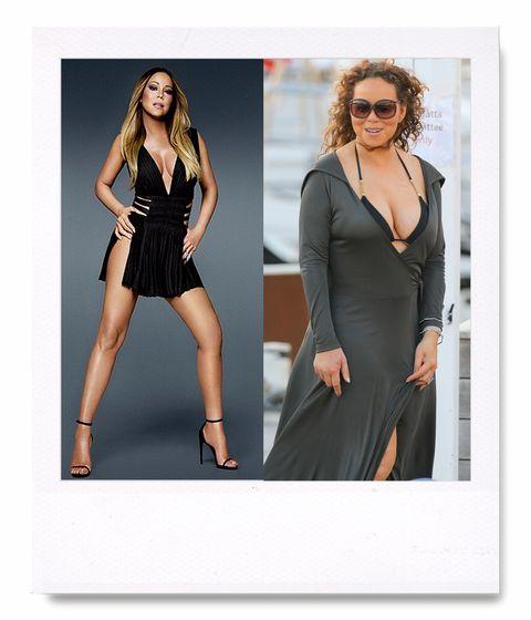 <p>Y no es la primera vez: la portada de su disco '1 to Infinity', en la que aparecía vestida con un LBD de Yves Saint Laurent, ya desató la polémica al mostrar una Mariah algo distinta a la habitual.&nbsp;</p>