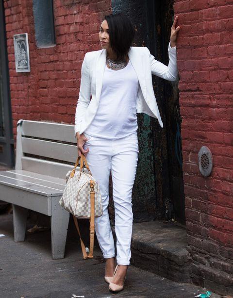 1f717db6d Looks de embarazada  9 meses con estilo - Cómo vestir durante el ...