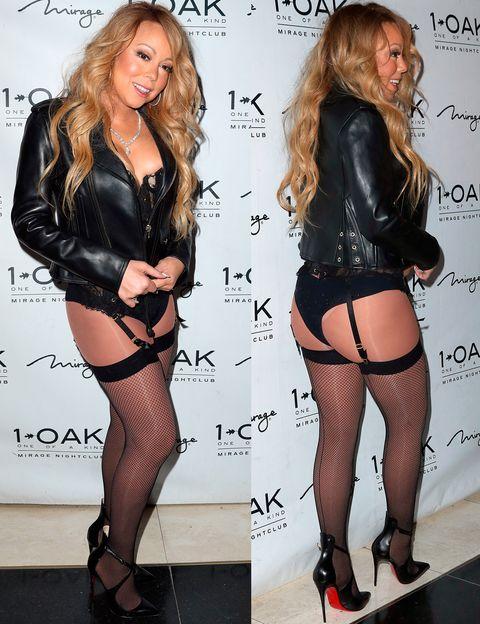 <p>Una auténtica locura este estilismo (por llamarlo de alguna manera) de <strong>Mariah Carey</strong> en una fiesta en Las Vegas en ropa interior y con perfecto.</p>