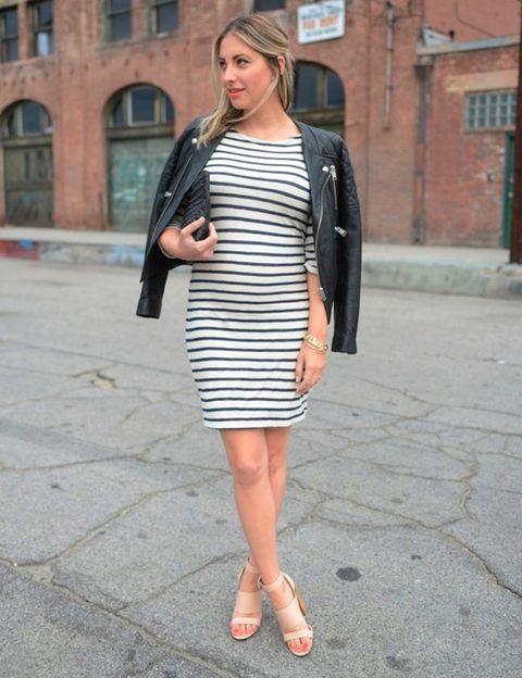 47d364a28 Looks de embarazada  9 meses con estilo - Cómo vestir durante el ...