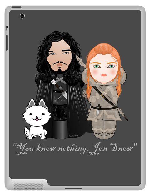 <p>Pegatina para iPad de Jon Snow e Ygritte (19,06 €), de <strong>Pendientera.</strong></p>