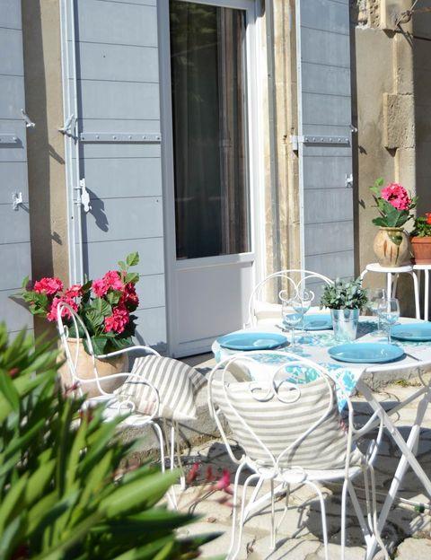 Casa rural Gîte Du Castelet: terraza
