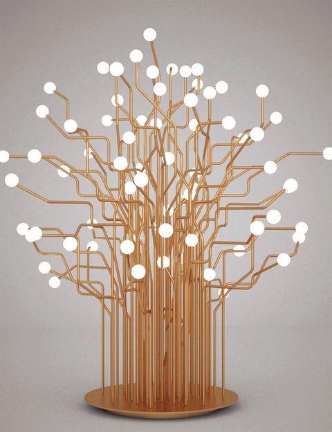 <p>Esta arquitecta explora el equilibrio entre lo tecnológico y lo natural con la lámpara <i>Circuitree.</i> Su estructura, de latón, se ha construido de forma artesana e incluye luces Led. ¡Maravillosa! www.moneobrock.com</p><p></p>