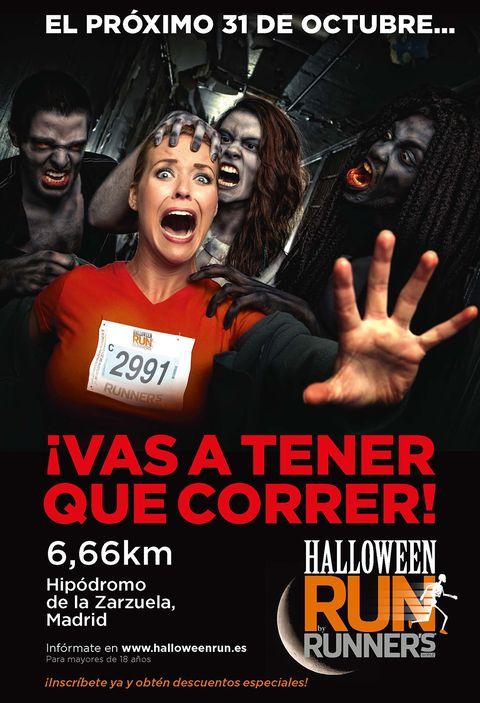 """<p>Te morirás de miedo en esta carrera: correrás de noche por tierra, asfalto, tramos iluminados y otros en penumbra; una distancia de 6,66 km (el número de la bestia), en un itinerario circular que empieza y termina en el Hipódromo de Madrid. La <a href=""""http://www.halloweenrun.es/"""" target=""""_blank""""><strong>Halloween Run 2015</strong></a> promete muchas sorpresas y emociones, además de mucha diversión. Se puede y se recomienda participar disfrazado y es recomendable llevar algo de luz frontal... para evitar sustos.</p>"""
