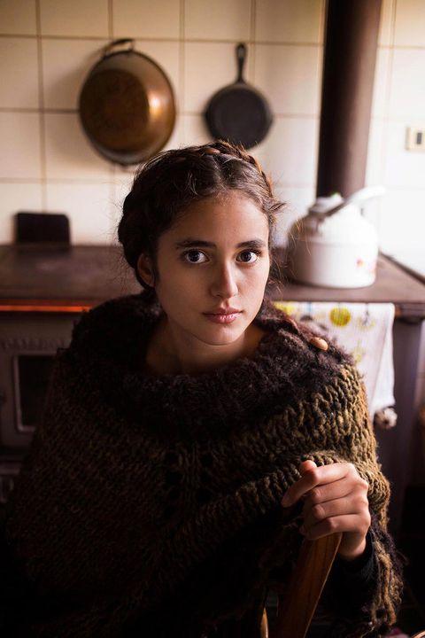 <p>Una mujer en Chile, durante el primer viaje de la artista alrededor del mundo.</p>