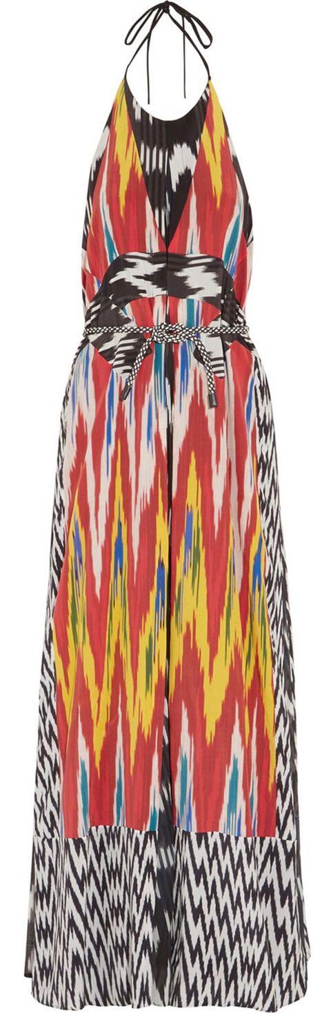 <p>Vestido con escote halter estampado, de Altuzarra.</p><p>&nbsp;</p>