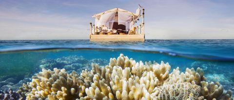 <p>El apartamento se encuentra en la Gran Barrera de Coral australiana, una de las siete maravillas naturales del mundo. Pertenece a la plataforma vacacional Airbnb, que ha convocado un concurso en el que regala una noche en él. </p>