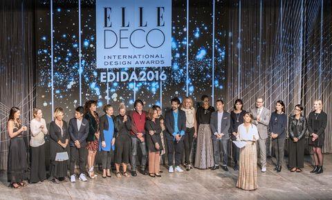 <p>Los directores de las 25 ediciones internacionales de ELLE DECOR, con el diseñador Jaime Hayón, en el centro.</p>