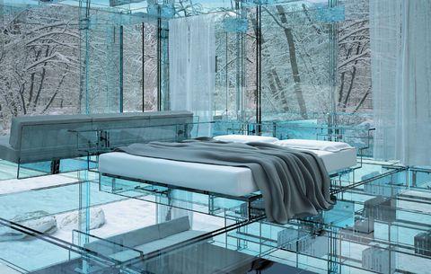 <p>El diseño es minimalista y, aunque el cristal no es un material especialmente cálido, sus siete milímetros de grosor sí aislan del frío con suficientes garantías.</p>