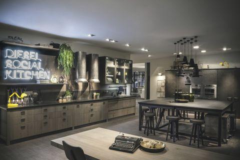 <p>La<i> Diesel Social Kitchen</i> es un proyecto de Diesel y Scavolini. </p>