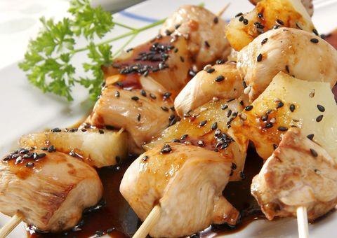 Food, Cuisine, Ingredient, Dish, Recipe, Meat, Skewer, Cooking, Brochette, Dishware,