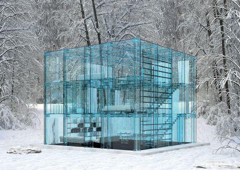 <p>La casa está pensada para colocarse en entornos naturales y apartados, desde los que poder disfrutar de las vistas sin ser visto.</p>