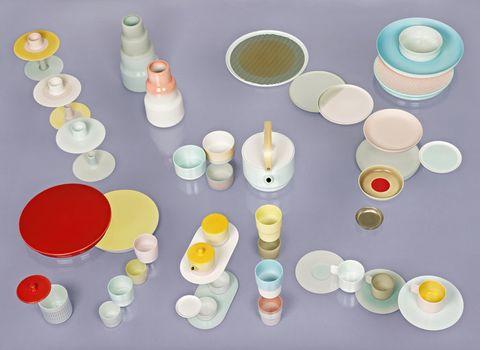 <p>Piezas de los diseñadores holandeses Scholten&Baijings en The Norfolk House Music Room en las British Galleries, del V&A museum.</p>
