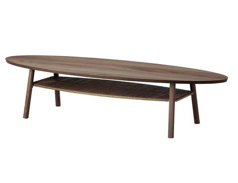<p>Mesa de centro Stockholm, 180x59, al. 40 cm, 229 €, de Ikea. </p>