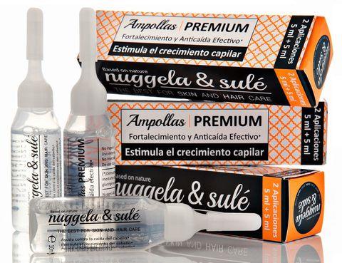 <p>Gracias a una fórmula a base de Glucógeno Marino y Cebolla Roja, las ampollas de <strong>Nuggela & Sulé</strong> <strong>refuerzan el cabello y frenan su caída</strong>. Lo ideal es cumplir un tratamiento de 3 aplicaciones por semana durante dos meses (4,95 €/ampolla que sirve para dos aplicaciones).</p>