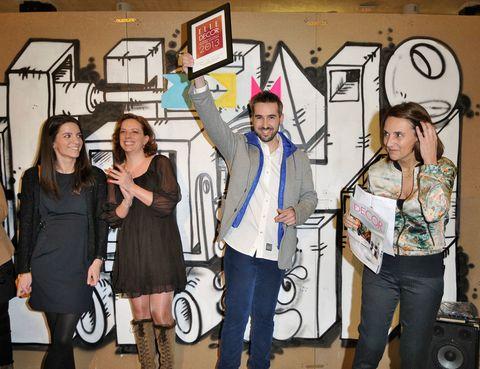 <p>Vicente Porres y Susana Sancho, de <strong>Noviembre Estudio</strong> reciben el Premio Young Talent Edida España 2013.</p>