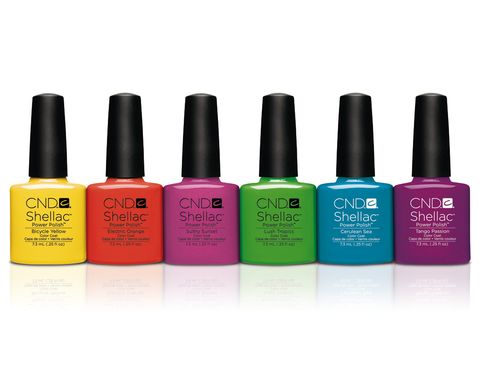 <p><strong>Paradise Collection</strong> de <strong>Shellac</strong>.  Seis tonos neones tropicales (A partir de 30 €).</p>