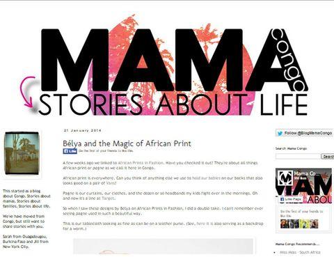 """<p>Este blog creado por una congoleña junto a una neoyorkina se propuso contar en primera persona<strong> historias sobre el Congo al mundo</strong>.</p><p>Desde <a href=""""http://mamacongo.blogspot.com.es/2014/01/belya-and-magic-of-african-print.html"""" target=""""_blank""""><strong>Mama Congo</strong></a> hablan de una manera cercana sobre la vida en África. Hoy en día se ha convertido en una buena plataforma donde <strong>dan a conocer</strong> entre muchas otras cosas, <strong>productos, ropa, calzado</strong>, recetas difíciles de descubrir si no es por alguien que viva allí. Y que, por cierto, merecen mucho la pena.&nbsp;</p>"""