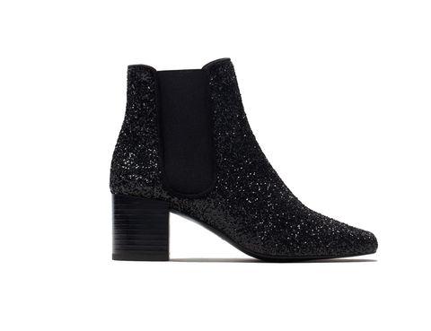 <p>Botines glitter de <strong>Zara.</strong></p>