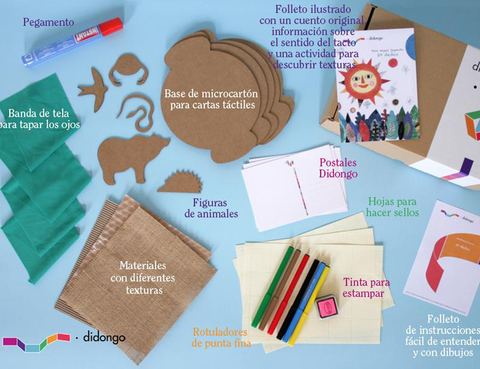 """<p>Con los kits creativos de <a href=""""http://didongo.com/es/"""" title=""""Didongo"""" target=""""_blank"""">Didongo</a> podrás realizar originales actividades didácticas sin salir de casa. Sólo tienes que elegir tu plan de suscrpción y recibirás tu paquete dos veces al mes. </p>"""