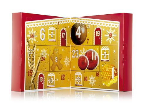 <p>Regálate un capricho de belleza cada día con este original calendario de <strong>The Body Shop</strong> (85 €).</p>