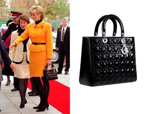<p>Lady Di fue la encargada de inspirar a Christian Dior para conseguir el bolso <strong>Lady Dior</strong> (2.600 €).</p>