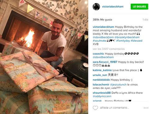 <p>Con este mensaje tan cariñoso y esta tierna imagen, felicitaba Victoria Beckham a travé s de Instagram el 41 cumpleaños a David Beckham. ¡Nos encanta!</p>