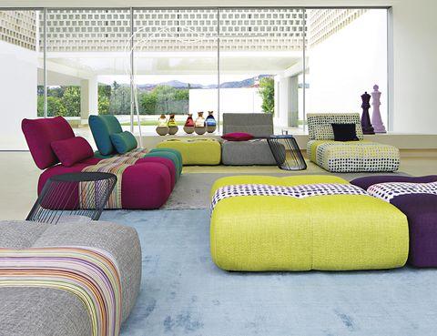 <p>Relax total con los sofás modulares <i>Parcours</i>, de Roche Bobois, c.p.v.</p>
