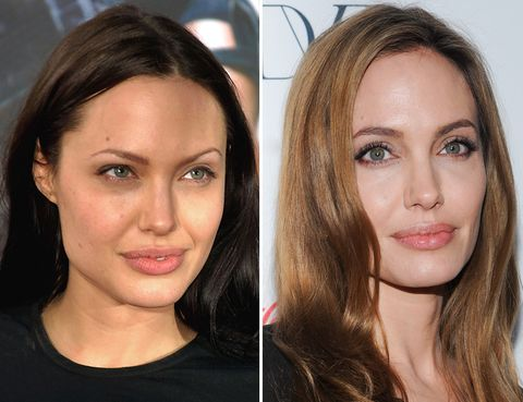 <p>Unos cuantos años de diferencia separan estas imágenes: antes, <strong>Angelina Jolie</strong> lucía unas cejas muy finas y un aspecto más explosivo. La prferimos ahora: unas cejas más naturales le aportan una apariencia más sofisticada.</p><p></p>