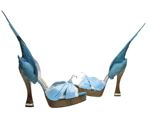"""<p>El nombre de la expo lo dice todo: <strong>""""Zapatos: Placer y Dolor"""",</strong> en el <strong>Museo V&amp&#x3B;A.</strong> Unos 200 pares, desde unas sandalias del Antiguo Egipto hasta los más sofisticados diseños actuales, nos hablan de su significado cultural. En la imagen, """"ParaKeet"""" de Caroline Groves (foto: Dan Lowe). Londres. Del 13 de junio al 31 de enero.</p>"""