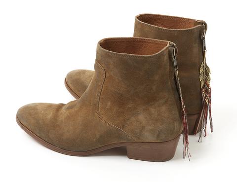 "<p>Botines de ante marrón de <a href=""http://www.swildens.fr/e-shop/chaussures/bottines-jakpot.html"" title=""Swildens"" target=""_blank"">Swildens</a> (290 €).</p>"