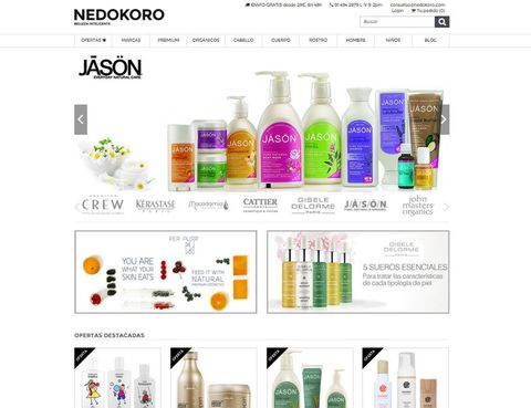 """<p><a href=""""http://www.nedokoro.com/"""" target=""""_blank"""">Nedokoro</a> cuenta con una amplia gama de marcas de belleza de peluquería y cosmética así como de productos capilares profesionales y <strong>firmas orgánicas naturales</strong>.</p><p>Podrás encontrar en ella <strong>marcas exclusivas muy difíciles de encontrar en España</strong> como Dr Paw Paw, Naobay, Tigi, American Crew o China Glaze entre otras. Merece la pena echar un vistazo.</p>"""