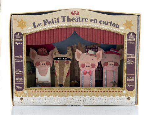 "<p>Teatro de cartón de los tres cerditos de <a href=""http://www.lacentral.com/"" target=""_blank""><strong>La Central</strong></a> (14,71 €).</p>"